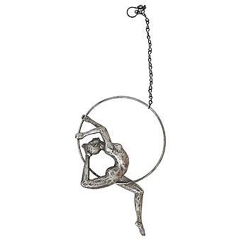 Silver Gymnast on Ring 26cm