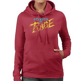 Sega Streets Of Rage Gold Logo Women's Hooded Sweatshirt