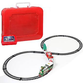Electric Train, Railway Toy Cars, Racing Track With Music, Tree Decoration