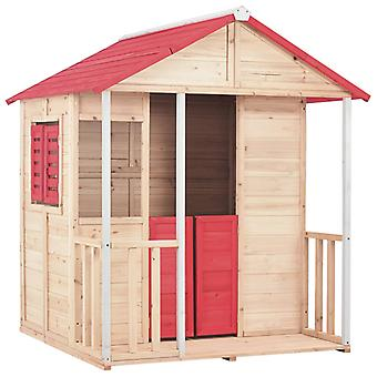 Children's Playhouse Wood Red