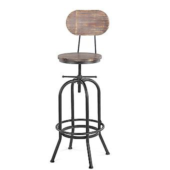 Adjustable Industrial Style Bar Stool Chair