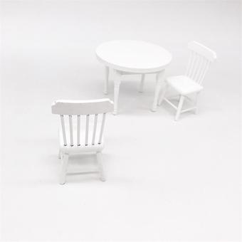 Wooden Furniture Miniature Dining Table And Chair,  Mini House Scene Decoration