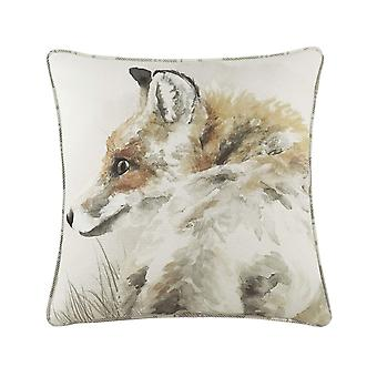 Evans Lichfield Watercolour Fox Cushion Cover