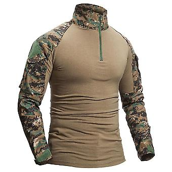 Military Camouflage Cotton Long Sleeve Army Tactical Shirt Outwear