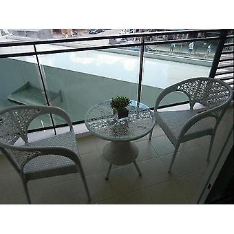 Zimní ratan venkovní nábytek kavárny stoly a židle skupina
