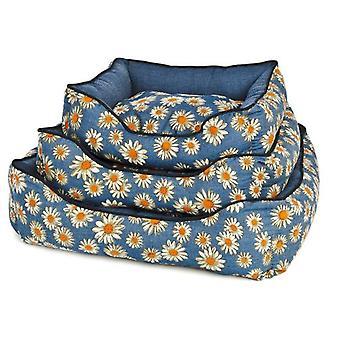 Ferribiella Daisy-print mat with denim (Dogs , Bedding , Matresses and Cushions)
