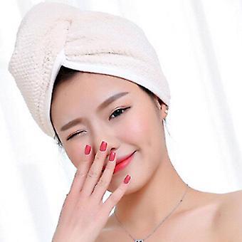 Magic Microfiber Hairs Drying Towel Wrap Turban Head Hat Bun Cap Shower