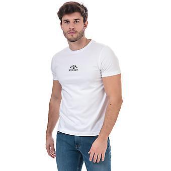 Men's Tommy Hilfiger Organic Cotton Arch Logo T-Shirt in White