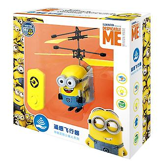 Minions Drone Rc Helicopter, Aircraft, Mini Fly Flashing Hand Control