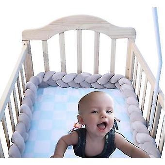 Детские обивка Woven Газа Узловой мяч Подушка Твист Коса Baby Кровать Кровать Бампер Украшение Кровать