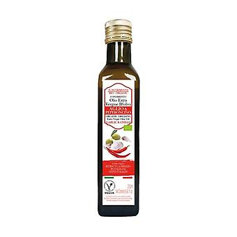 Dressing with extra virgin olive oil - garlic & chilli aroma 250 ml