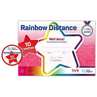 ASA zwemmen Engeland Rainbow afstand zwemmen Award - 10M