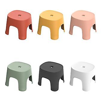 Kleine Bank Anti-Rutsch Couchtisch Kunststoff einfache Hocker (schwarz)