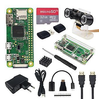 Kit Pi Zero W + Caixa acrílica + Cartão Sd Opcional, Tela sensível ao toque de 2,8 polegadas, câmera,