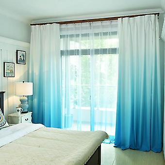 Gradient Blackout Window Curtains For Bedroom Window Curtain Fabric Drapes