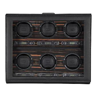 Wolf Roadster Module 2.7 Roadster Six Ebony Watch Winder with Cover 459256