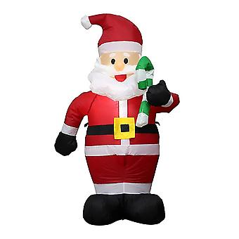 Giant Santa Claus With Crutch Inflatable