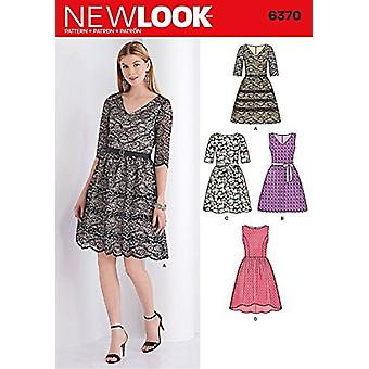 NEW LOOK 6370 Misses' Dress with Bodice Variations Sewing Kit, Size A (8-10-12-14-16-18)
