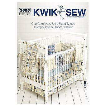 Kwik Sew K3685 Crib Comforter Sewing Pattern, Skirt