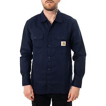 Camisa de hombre carhartt wip l / s espacio de camisa maestra i027579.0ag