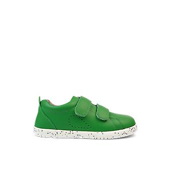 Bobux kid+ grass court emerald green trainer shoes