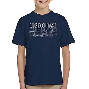London Taxi Company TX4 Open Door Kid's T-Shirt