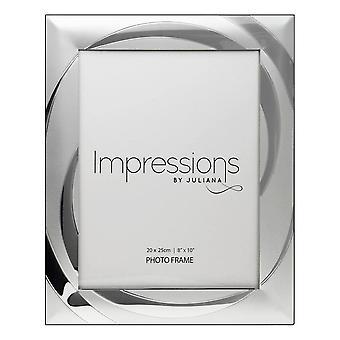 "Impressions By Juliana 2 Tone Silverplated 8 X 10"" Swirl Design Photo Frame"