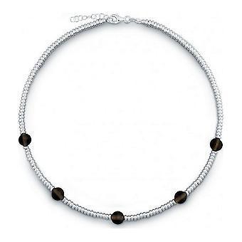 QUINN - Halskette - Damen - Silber 925 - Edelstein - Rauchquarz - 27169332