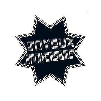 Cut-out étoile joyeux anniversaire VIP 34 x 32 cm
