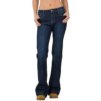 Bootcut Flared Stretch Mid Rise Jeans
