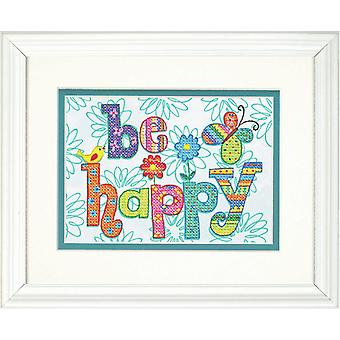 Dimensions Stamped Cross Stitch: Be Happy