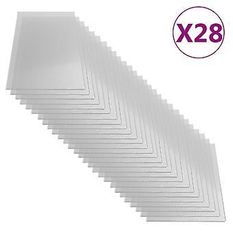vidaXL plaques de polycarbonate 28 pcs. 4 mm 121 x 60 cm