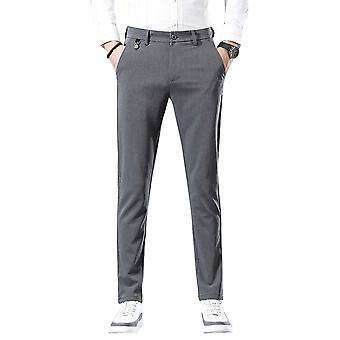 YANGFAN Men's Slim Fit Trouser Flat Front Dress Pant
