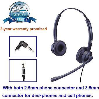 FengChun 2,5mm Headset mit Noise Cancelling Mikrofon Mono Telefon Headset CallCenter