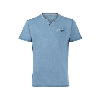 Barrett Short Sleeve Henley T-Shirt Washed Teal