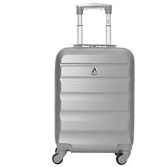 Aerolite (55x35x20cm) léger bagage à main de cabine à coque dure - argent