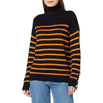 Morgan 192-mlove.n T-Shirt, Multicolored (Marine/Fauve Marine/Fauve), X-Large (Size Manufacturer: TXL) Women