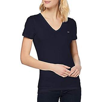 Tommy Hilfiger TJW Skinny Stretch V Hals T-Shirt, Twilight Navy, L Damen