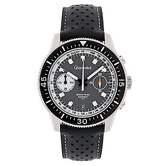 Gigandet G7-003 - Reloj para hombre, correa de cuero, color: negro