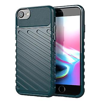 Tpu hiilikuitukotelo iphone 8/7 tummanvihreä mfkj-2081