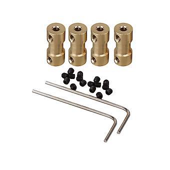 4 x moteurs en laiton Arbre d'accouplement Adaptateur Connecteur Accessoires 3x4mm