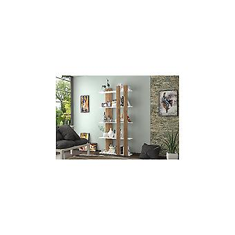 Tiny Wenge Color Library, Wit, in Melamine Spaanplaat L75xP22xA150 cm