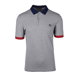 Fred Perry Contrast Trim Polo Shirt Steel Marl