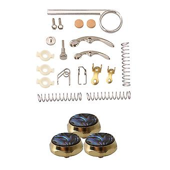 For Trumpet Drain Valve Key Springs Cork Pads Repair Kit with Finger Buttons WS5942