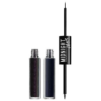 NYX Professional Make Up NYX Midnight Chaos Dual-Ended Eyeliner 3ml Blue / Midnight Warrior 03