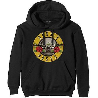 Guns N' Roses - Clássico Logo Masculino Grande Pullover Hoodie - Preto
