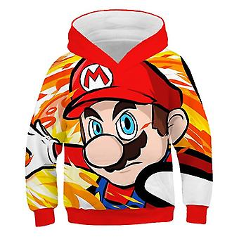 3d Cartoon Print Soft Hoodie Sweatshirt For Set-4