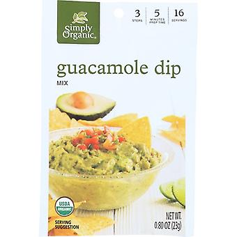 Simply Organic Dip Mix Guacamole Org, Case of 12 X 0.8 Oz
