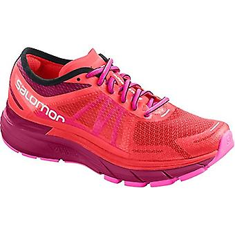 Salomon Women's Sonic RA Max Running Shoes (11 US, Fiery Coral/Cerise)