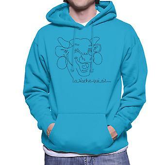 The Laughing Cow Handwritten Close Up Logo Men's Hooded Sweatshirt